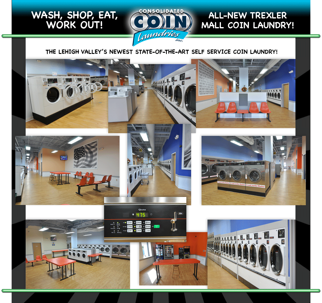 All new Coin Laundry Trexler Mall PA